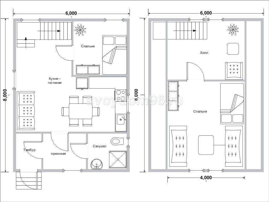 Строительство деревянных домов: : проект 80,0 м2 проекты до .
